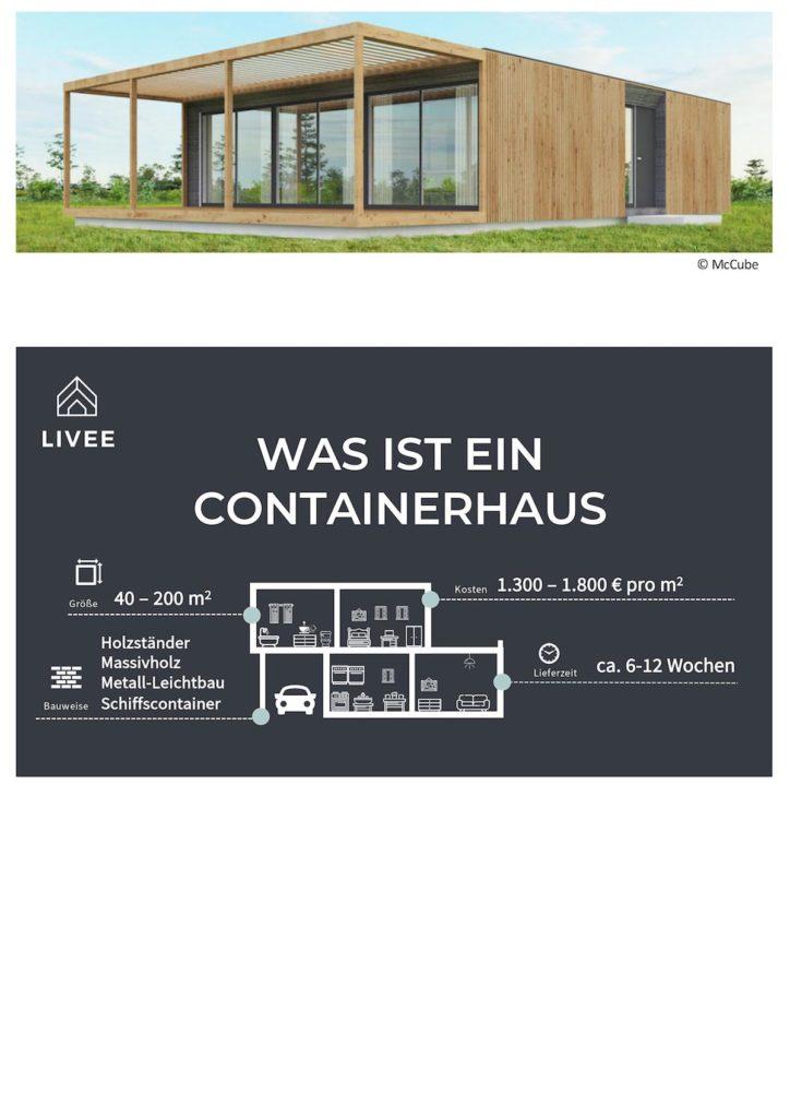 Containerhaus auf einer grünen Wiese