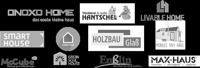 Das bild zeigt die Minihaus Partner von LIVEE mit Logo