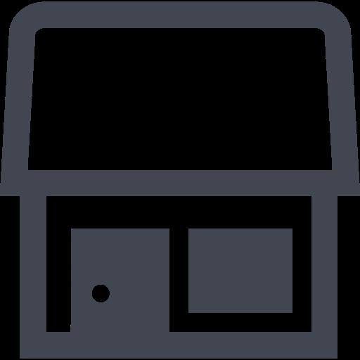 Das Bild zeigt ein kleines Haus. Das Icon steht für die Tiny House Bauweise, also das Produkt